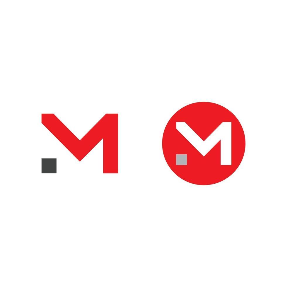 letter m lijn logo ontwerp. minimaal zwart-wit monogramsymbool vector