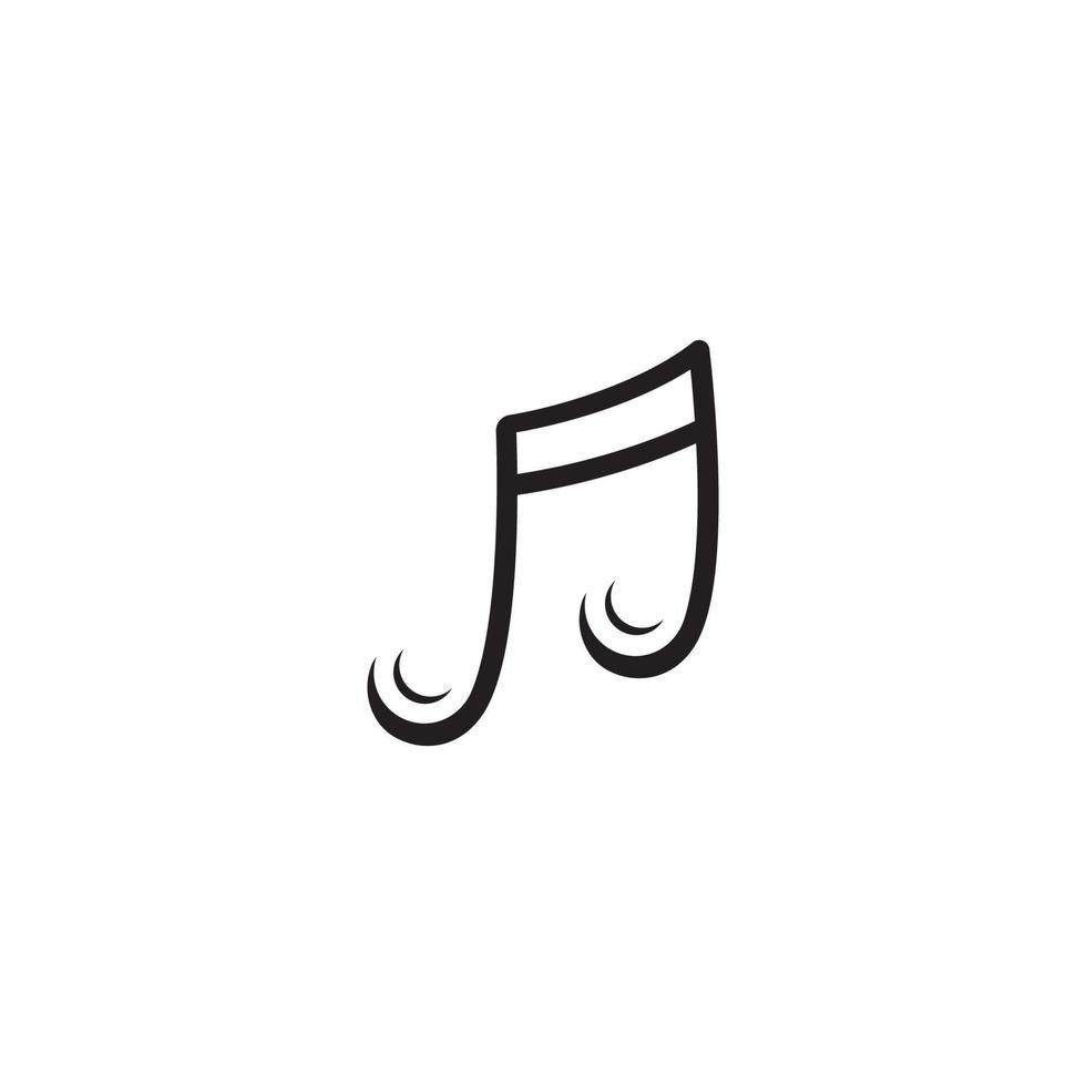 melodie pictogram vectorillustratie, muziek, melodie notitie pictogrammalplaatje vector