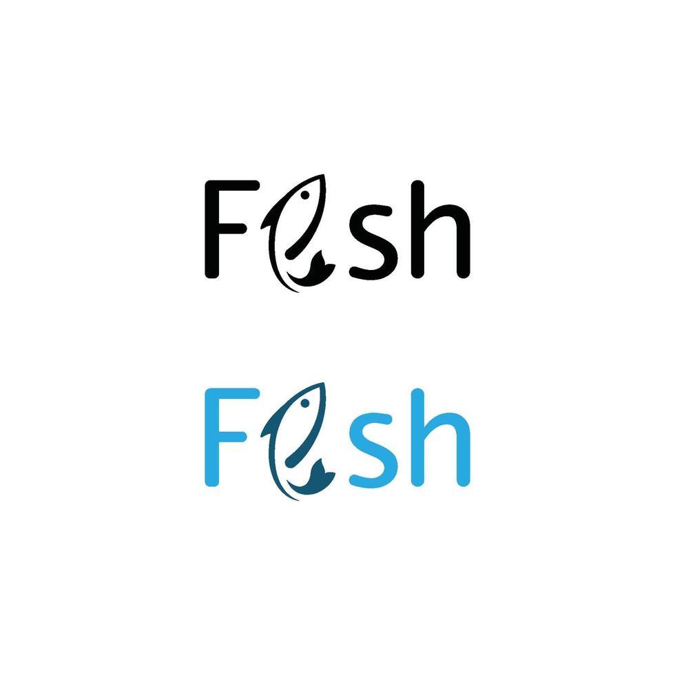 vis logo sjabloon. creatief vectorsymbool van vissersclub vector