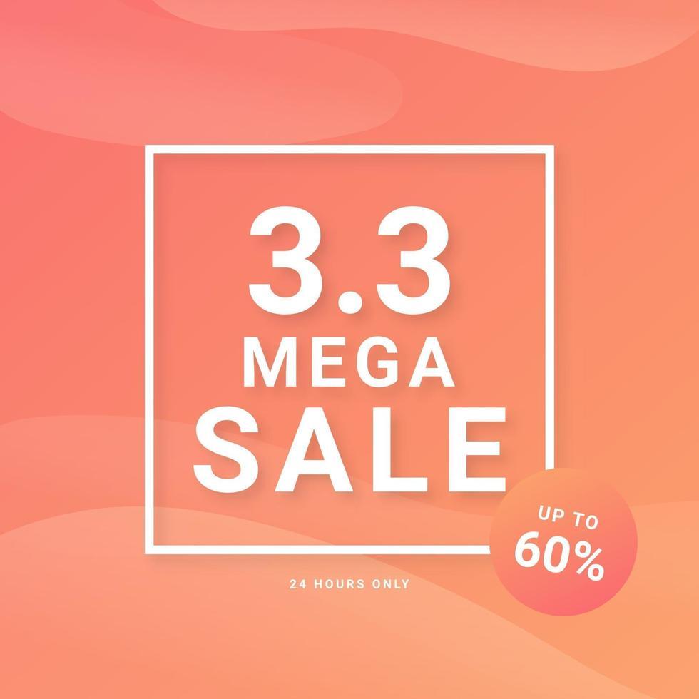 3.3 verkoop korting banner promotie. trendy ontwerpsjabloon voor reclame, sociale media, zaken, mode-advertenties, enz. vectorillustratie. vector