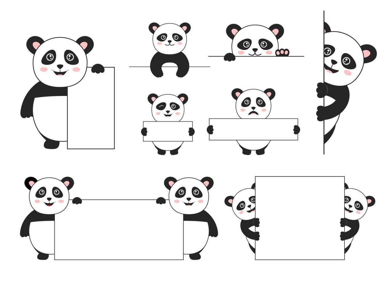 Panda bear vector ontwerp illustratie geïsoleerd op een witte achtergrond