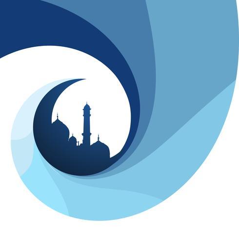 creatieve islamitische ontwerpachtergrond vector