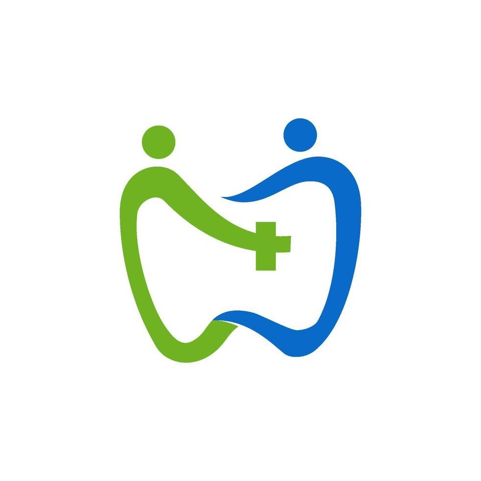 tandheelkundige kliniek logo tand abstract vector ontwerpsjabloon