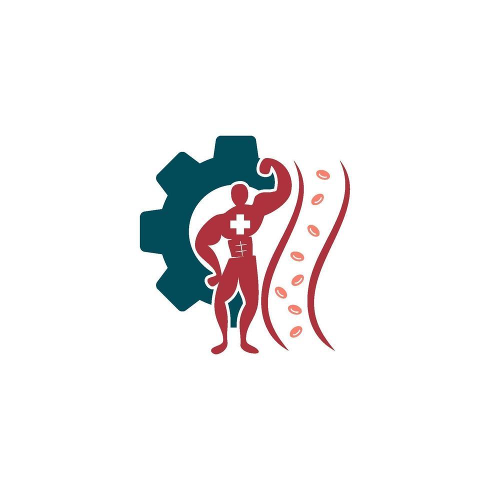 cholesterol in slagader gezondheidsrisico vector ontwerp illustratie
