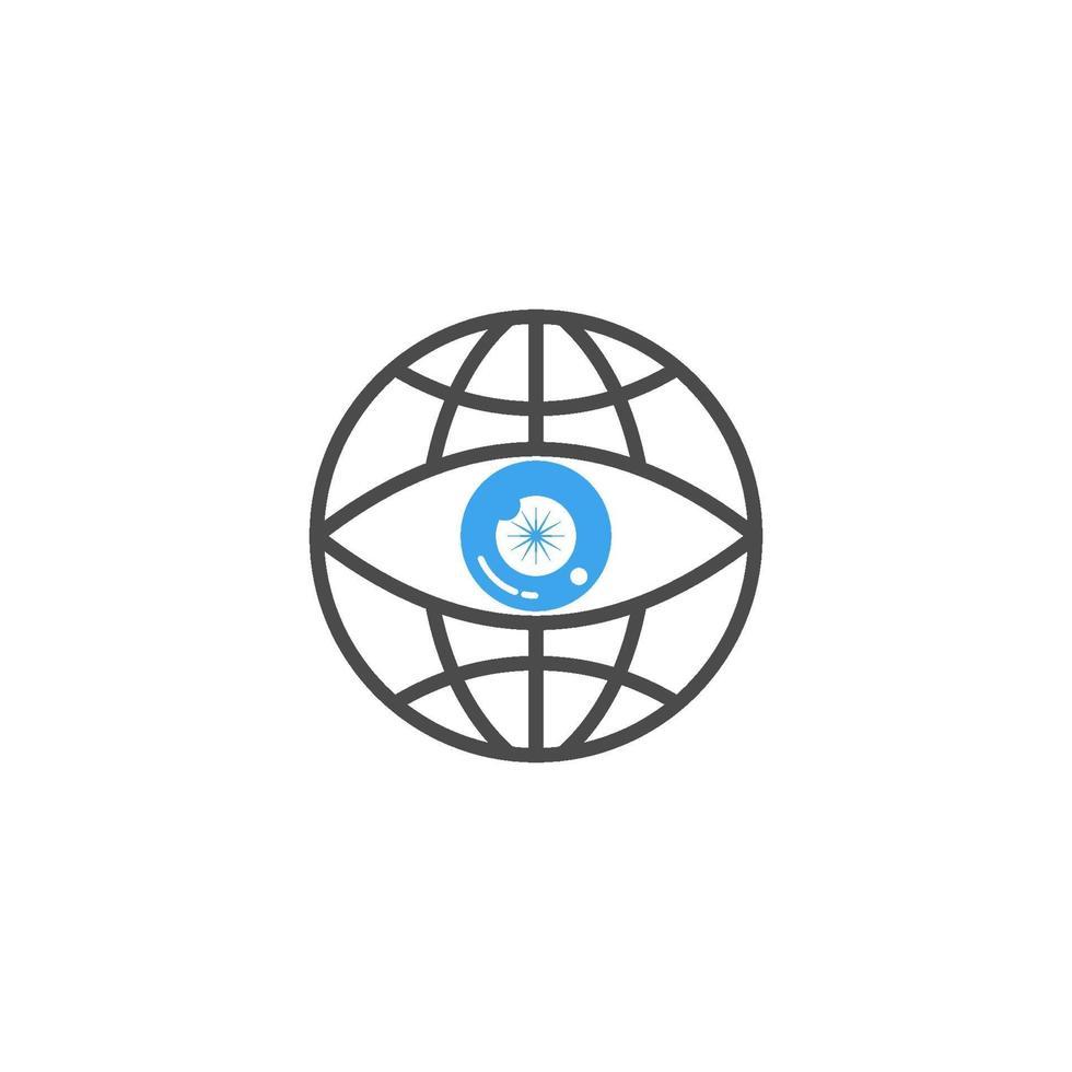 oogzorg gezondheid ontwerpsjabloon pictogram vector