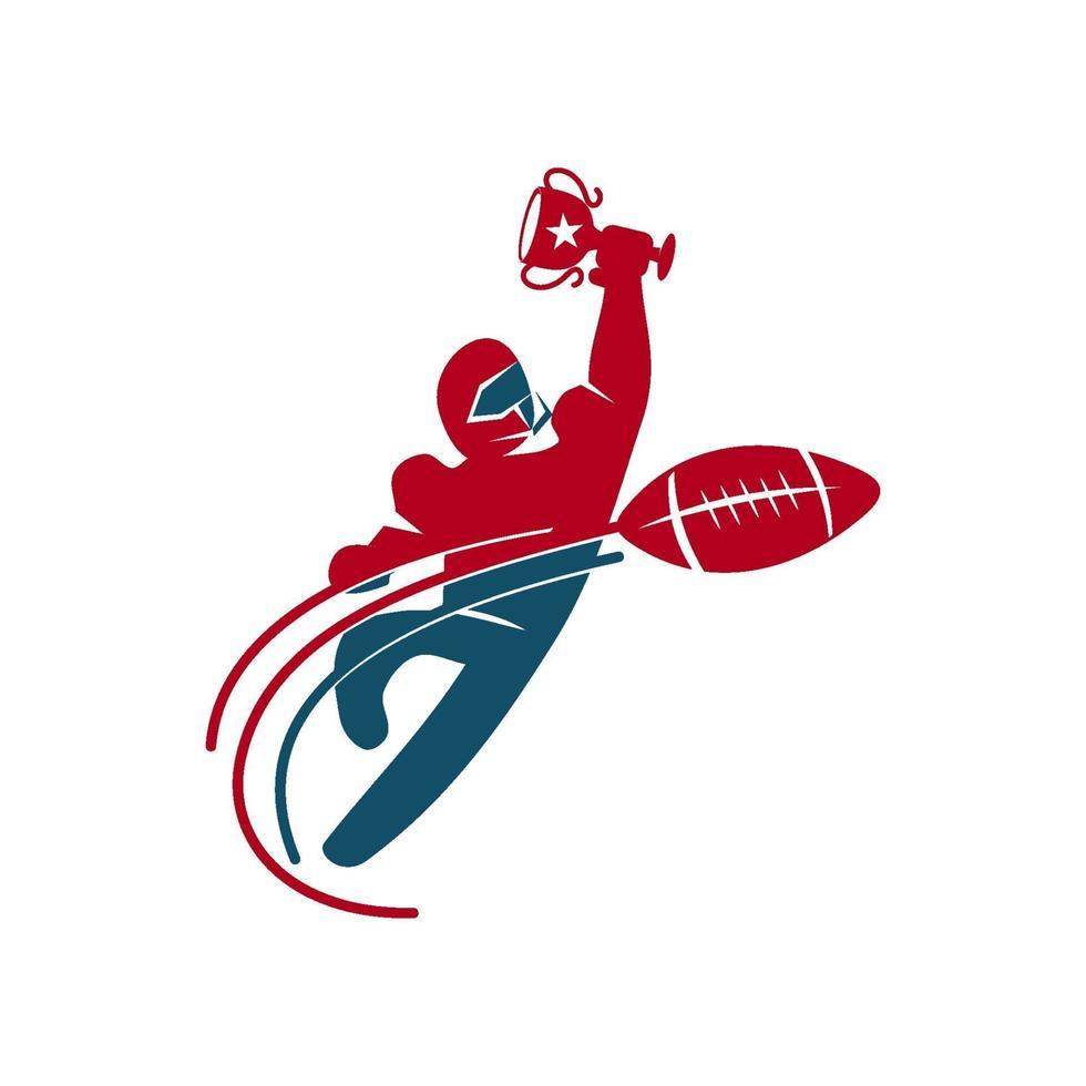 Amerikaans voetbal sport logo sjabloon ontwerp embleem vector