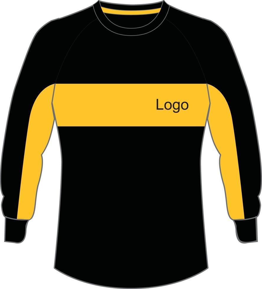 mock ups voor voetbal keeper trui vector