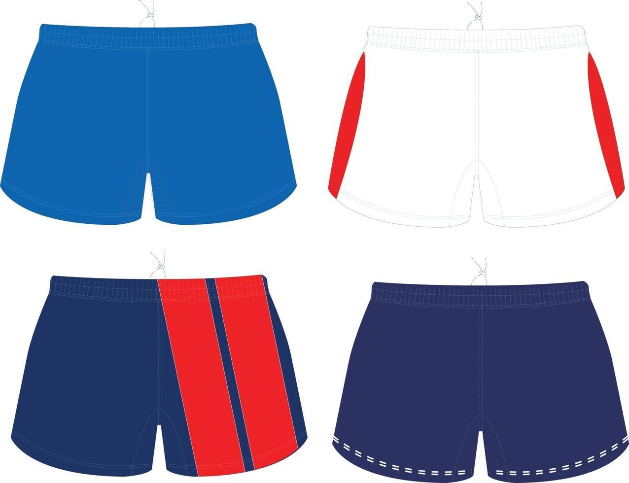 shorts mock ups ontwerpen vector