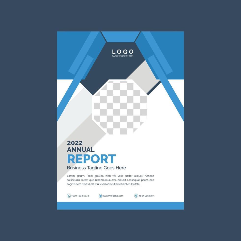 creatief jaarverslag voorbladsjabloon vector