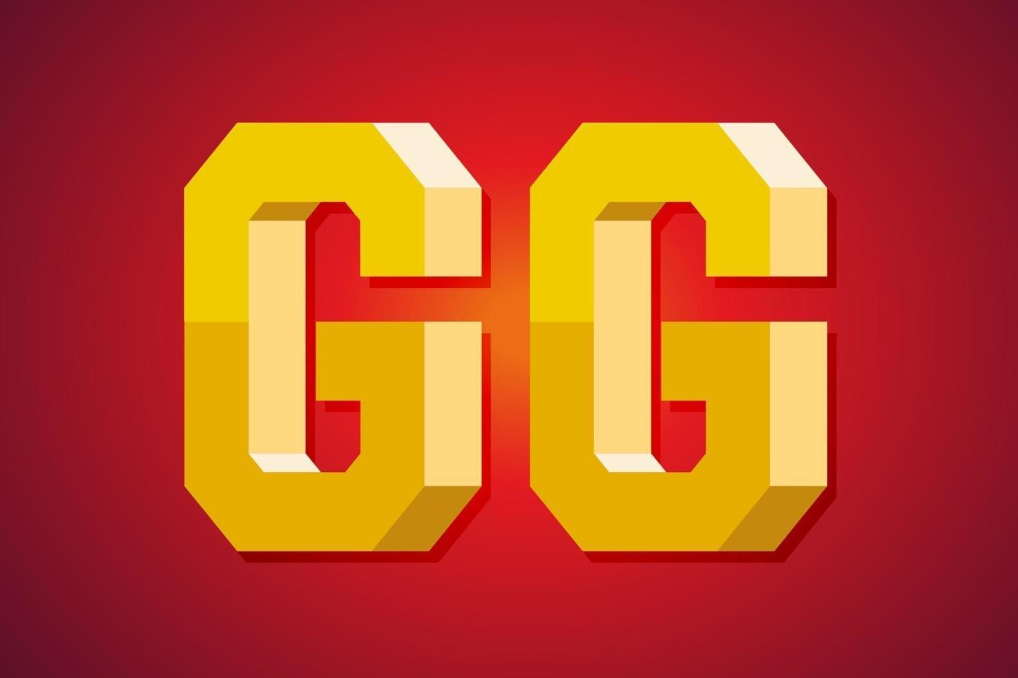 gg, goede gametoespraak. 3D-tekstontwerp. vector illustratie