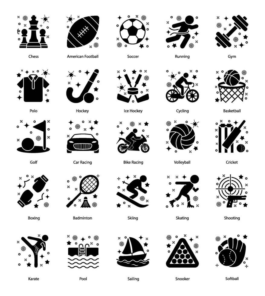 olympische sporten en spelen vector