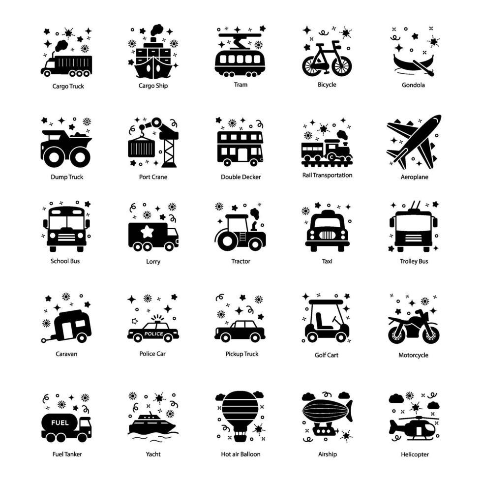 openbare voertuigen en vervoer vector