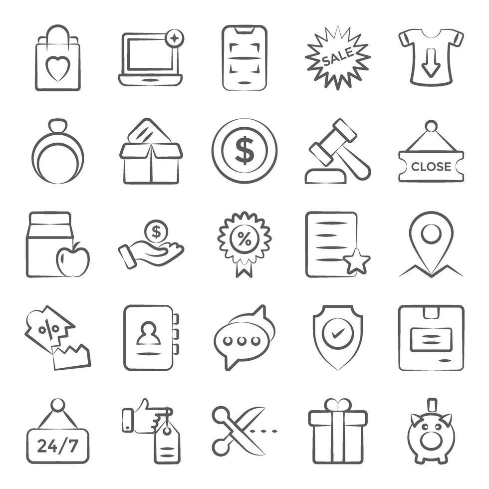 winkelen en e-commerce vector
