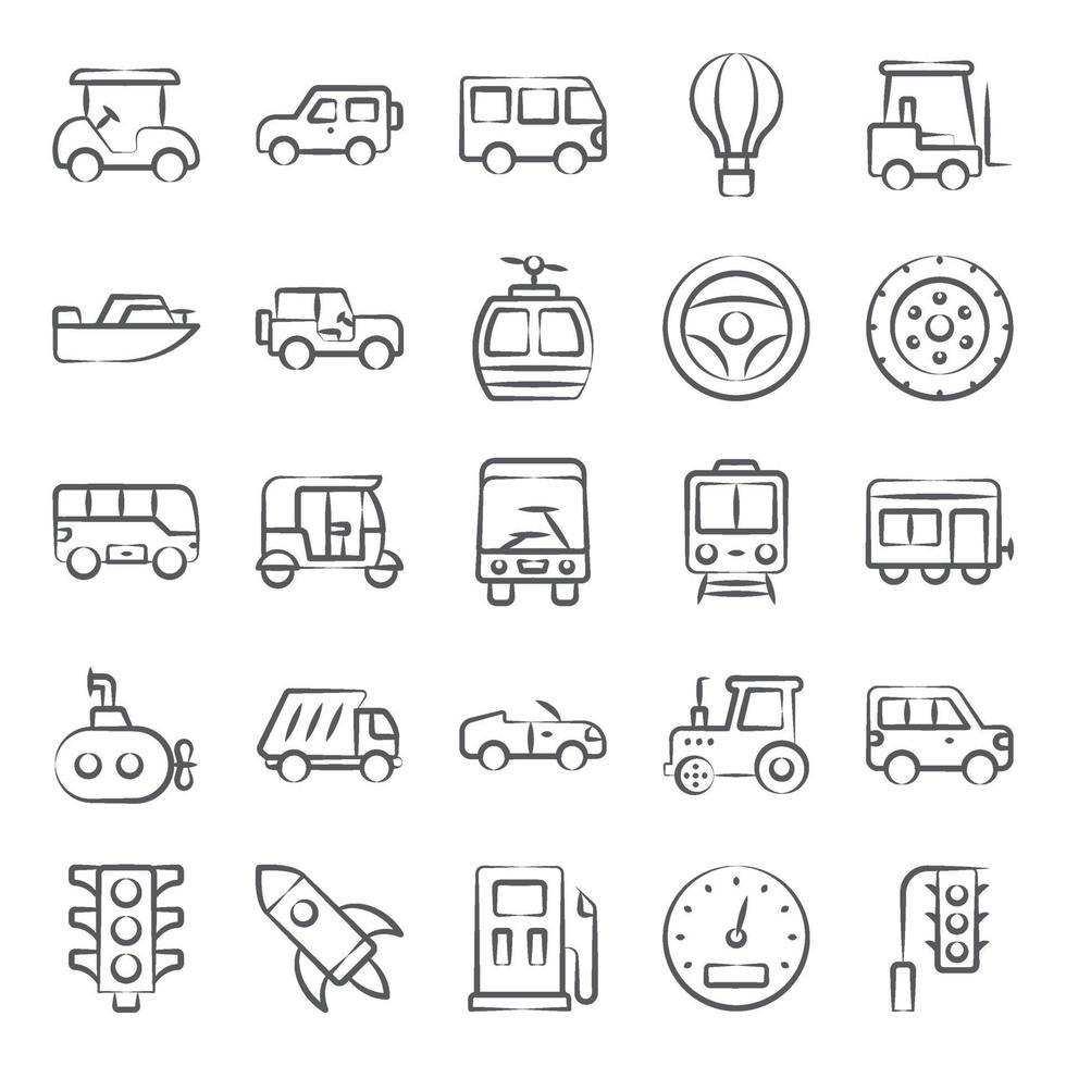 vervoer en auto vector
