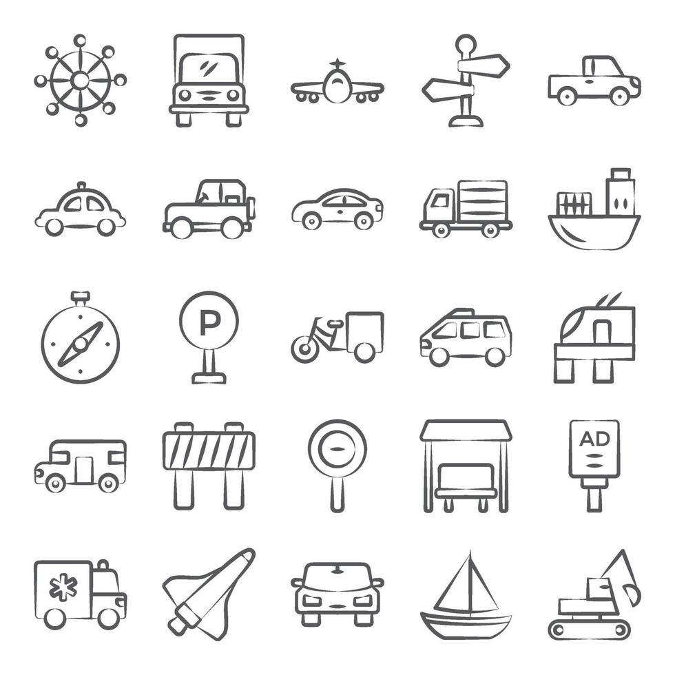 auto's en voertuigen vector