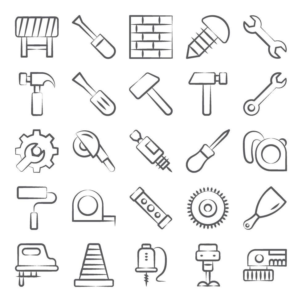 bouwgereedschap en uitrusting vector