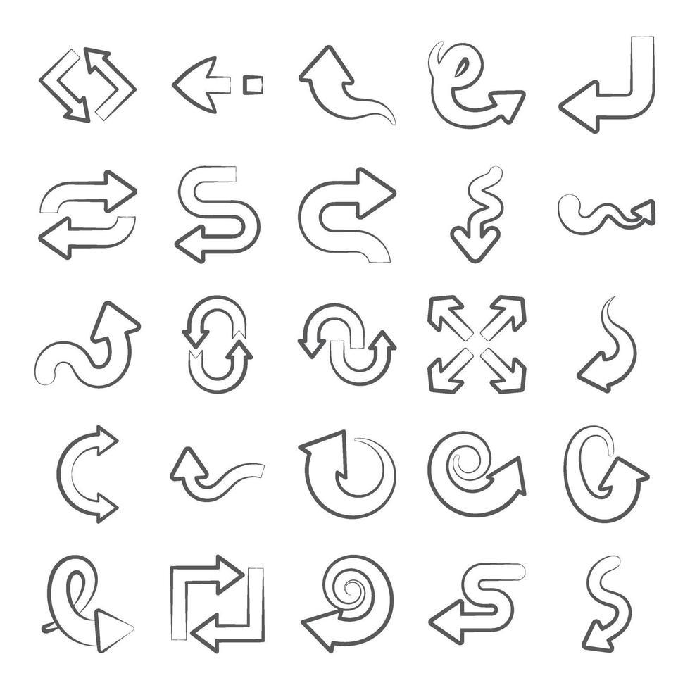 verzameling navigatiepijlen vector