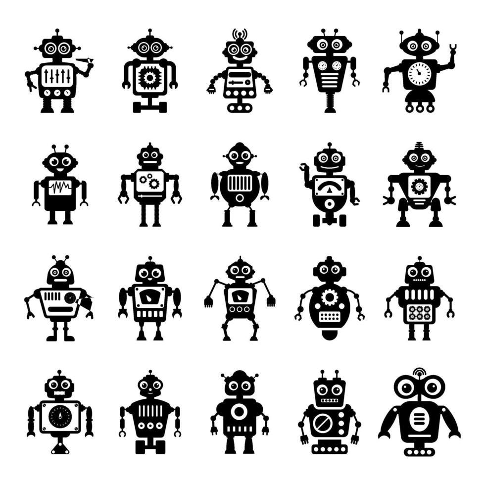 ai-technologie en robots vector