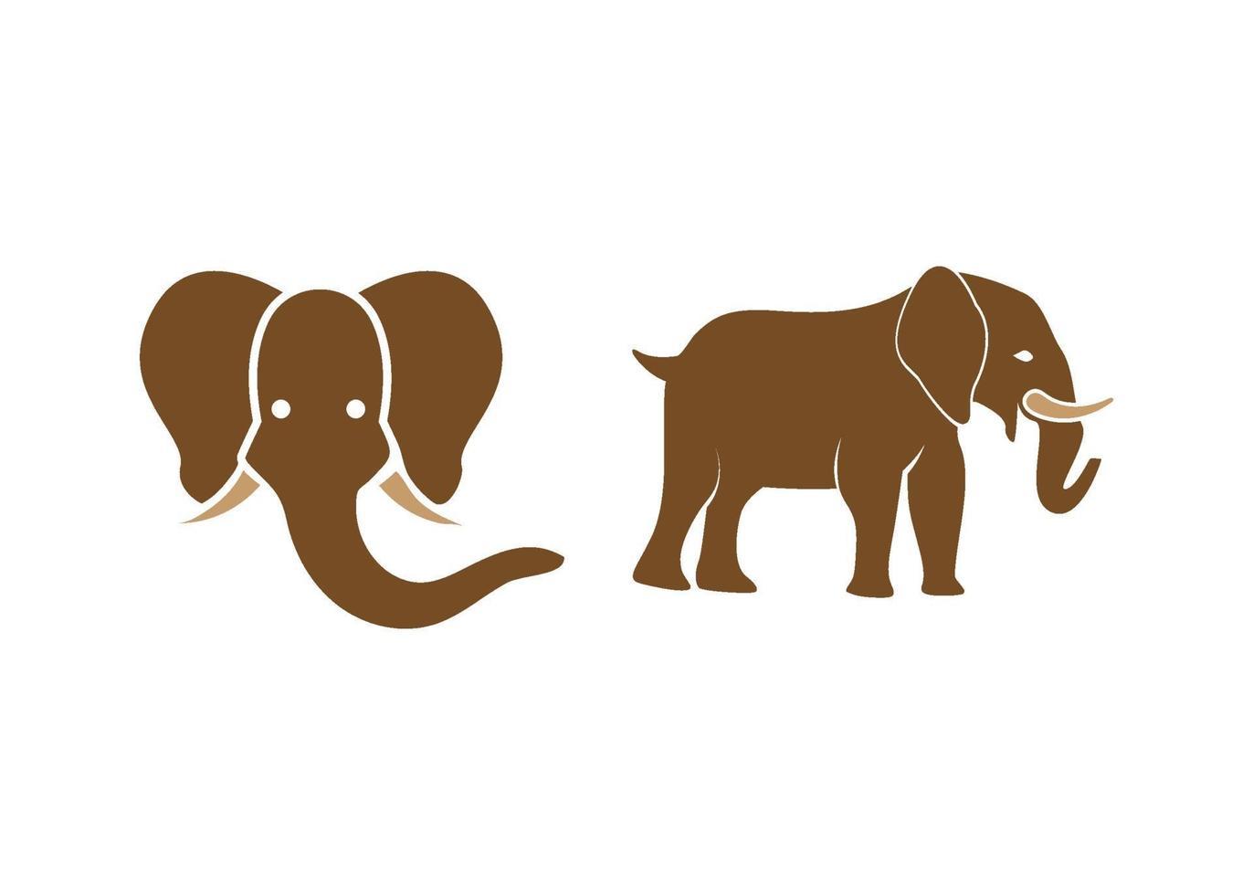 olifant pictogram illustratie vector set