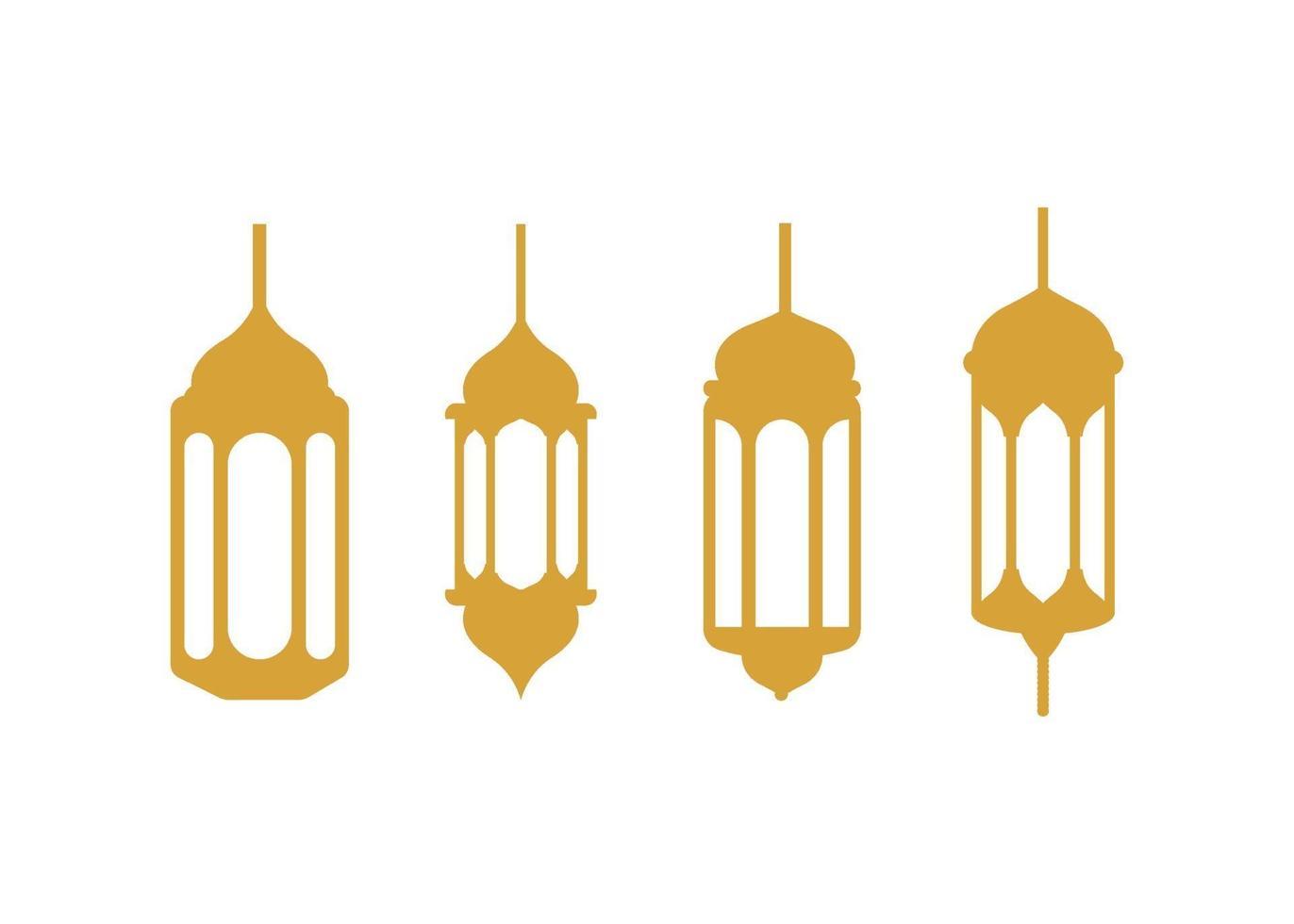 Fanoos lantaarn pictogram illustratie vector set