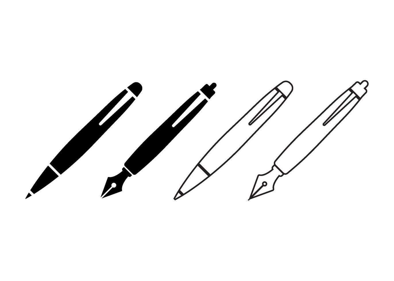 pen pictogram illustratie vector set