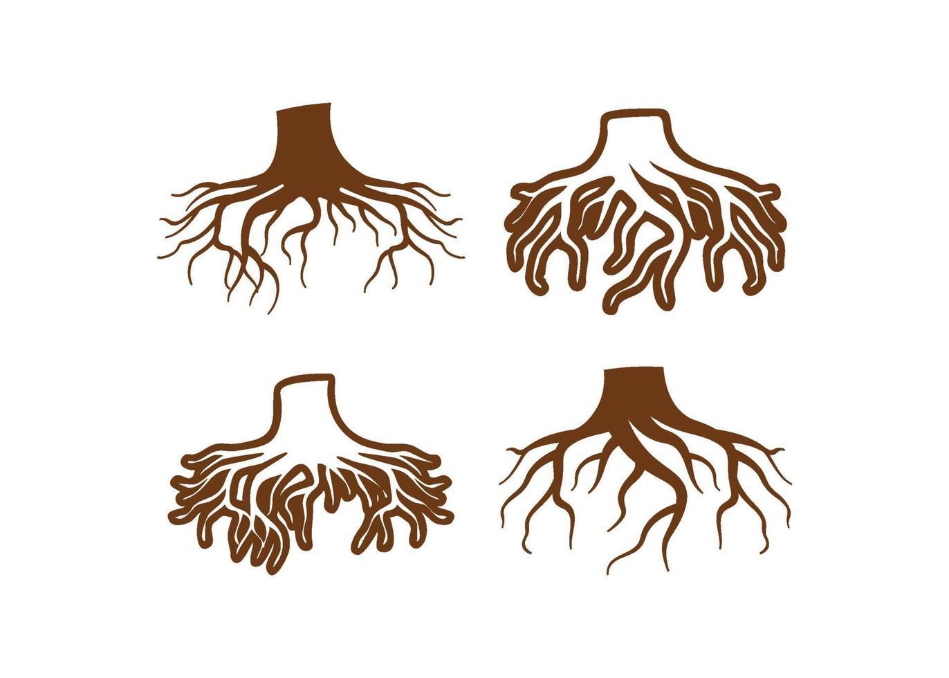 wortel pictogram illustratie vector set