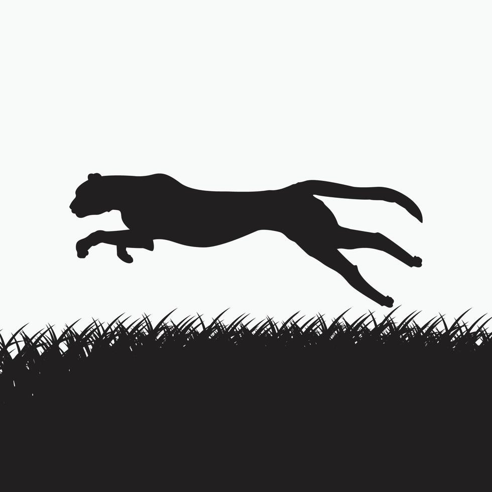 luipaard silhouet gratis vector