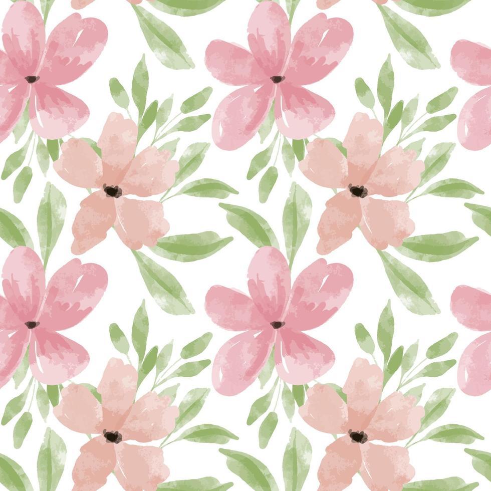 aquarel bloemblad bloem naadloze patroon pastel vector