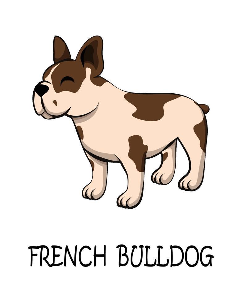 vector van schattige Franse bulldog eps 10.