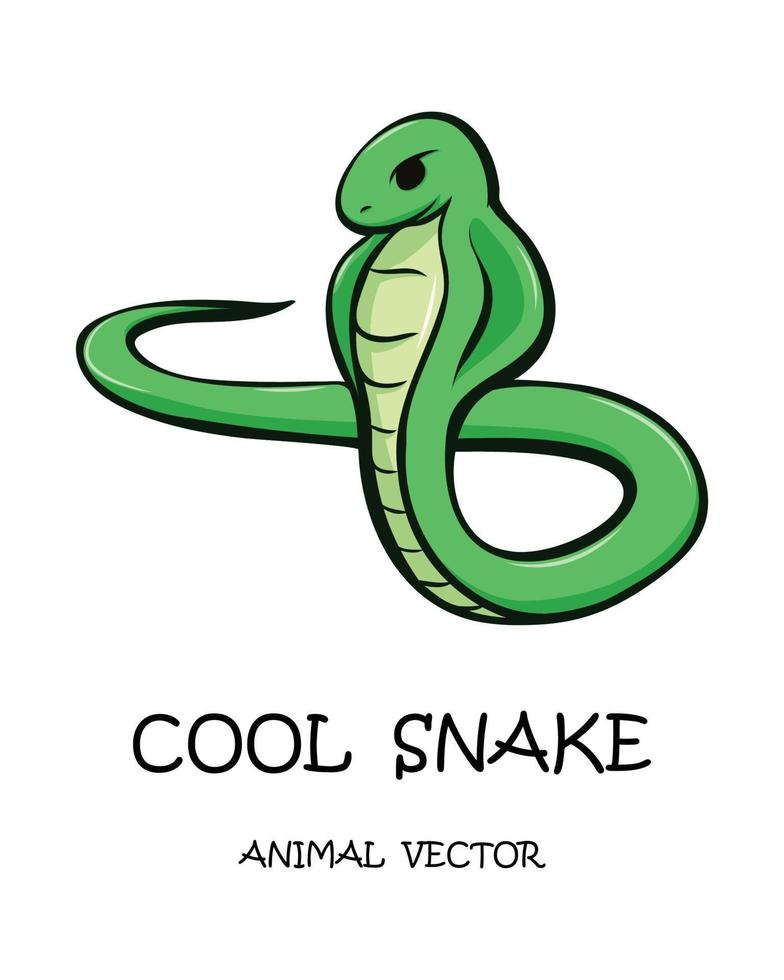 vector illustratie cartoon van een slang.