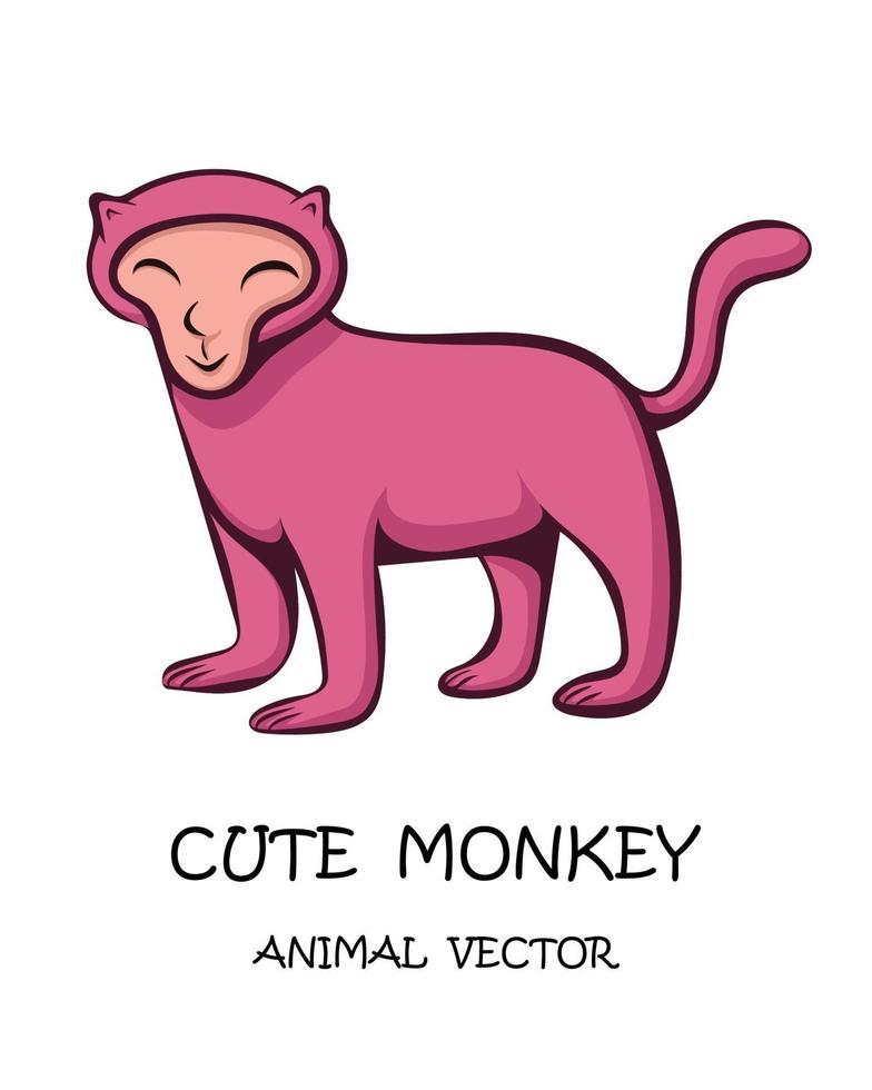 vector van schattige aap eps 10.