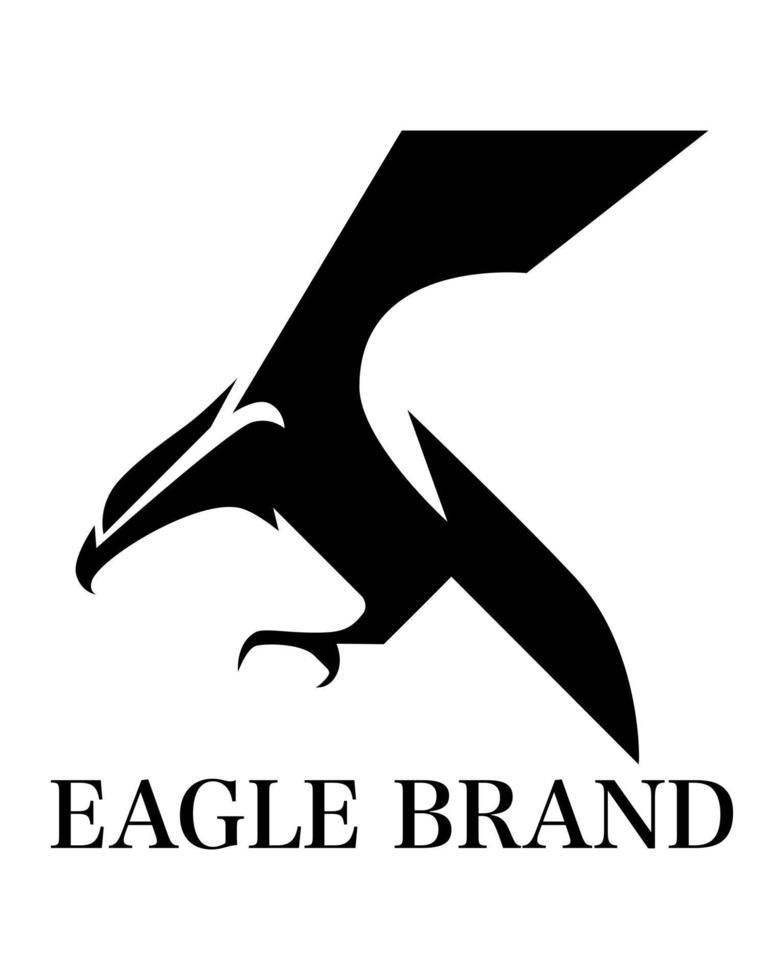 vector logo van adelaar die vliegt.