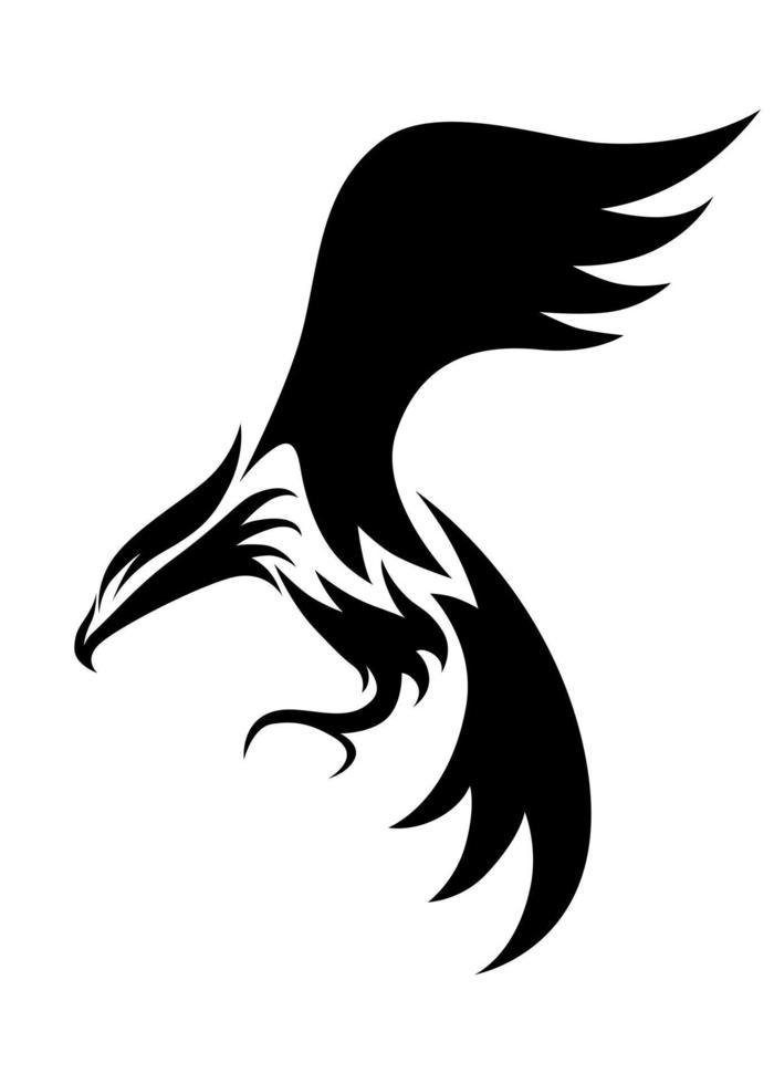 lijntekeningen vector logo van adelaar die vliegt.
