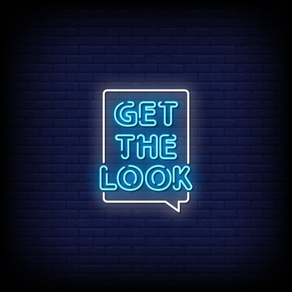 krijg de look neonreclame stijl tekst vector
