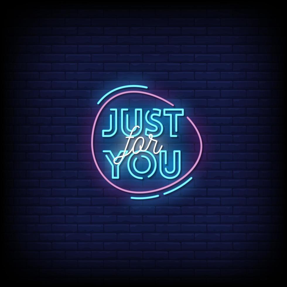 alleen voor jou neonreclamestijl tekst vector
