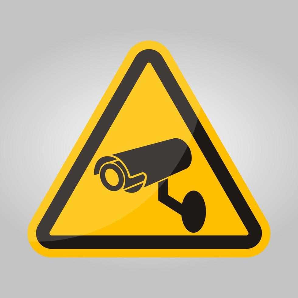 cctv beveiligingscamera symbool teken, vector illustratie, isoleren op witte achtergrond label .eps10