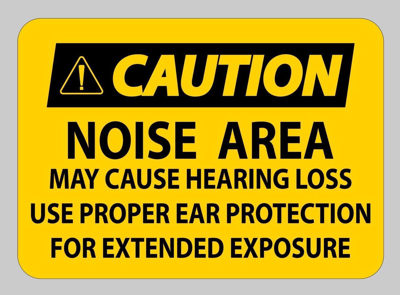 let op pbm teken, lawaai gebied kan gehoorbeschadiging veroorzaken, gebruik geschikte gehoorbescherming voor langdurige blootstelling vector