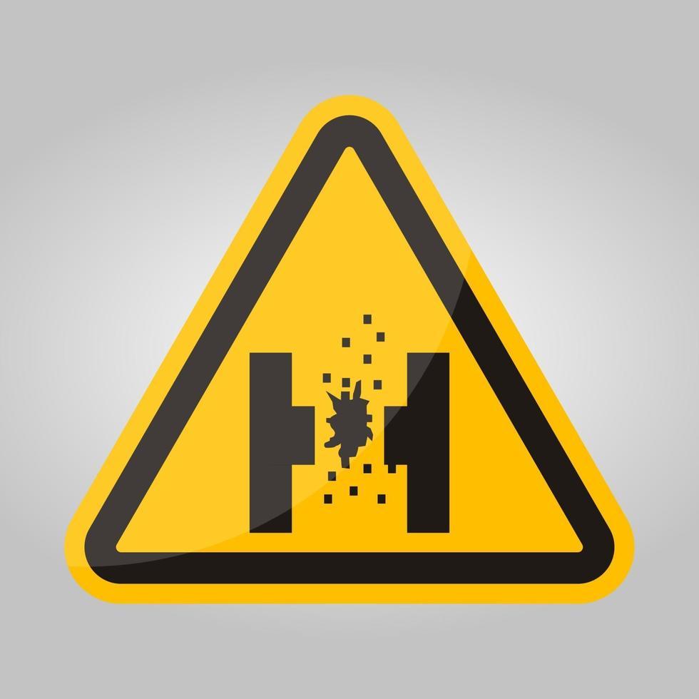 gevaar van gesmolten metaal symbool teken isoleren op witte achtergrond, vector illustratie eps.10