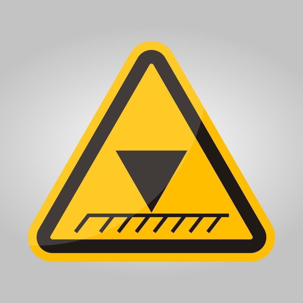 limiet overhead hoogte symbool teken isoleren op witte achtergrond, vector illustratie eps.10
