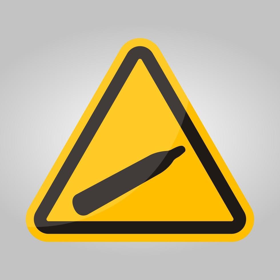gevaar druk gas symbool teken isoleren op witte achtergrond, vector illustratie eps.10