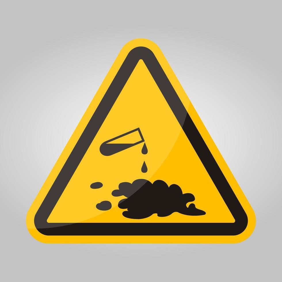 pas op voor chemisch morsen symbool teken isoleren op witte achtergrond, vector illustratie eps.10