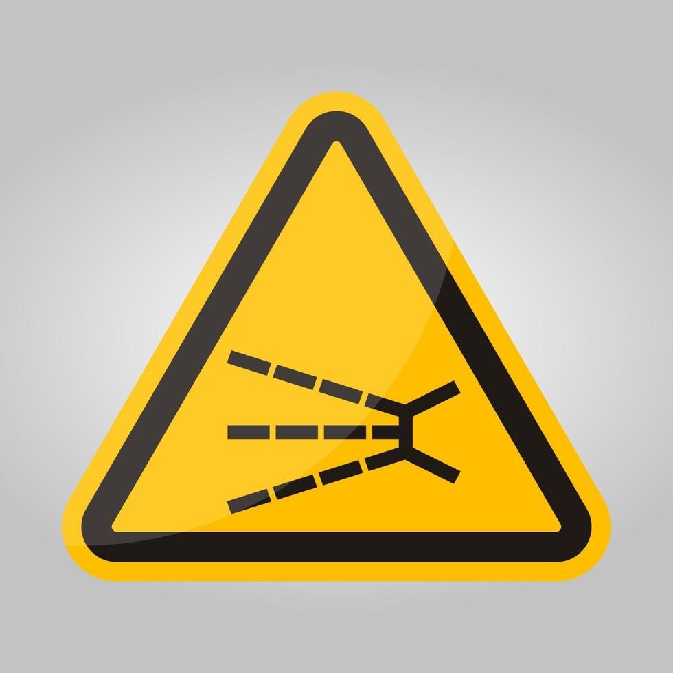 opspattend gevaarsymbool teken isoleren op witte achtergrond, vector illustratie eps.10