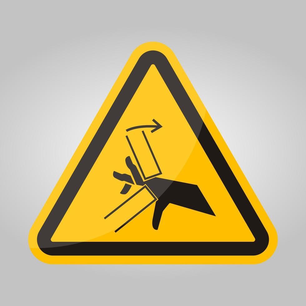 hand crush pinch point symbool teken, vector illustratie, isoleren op witte achtergrond label .eps10