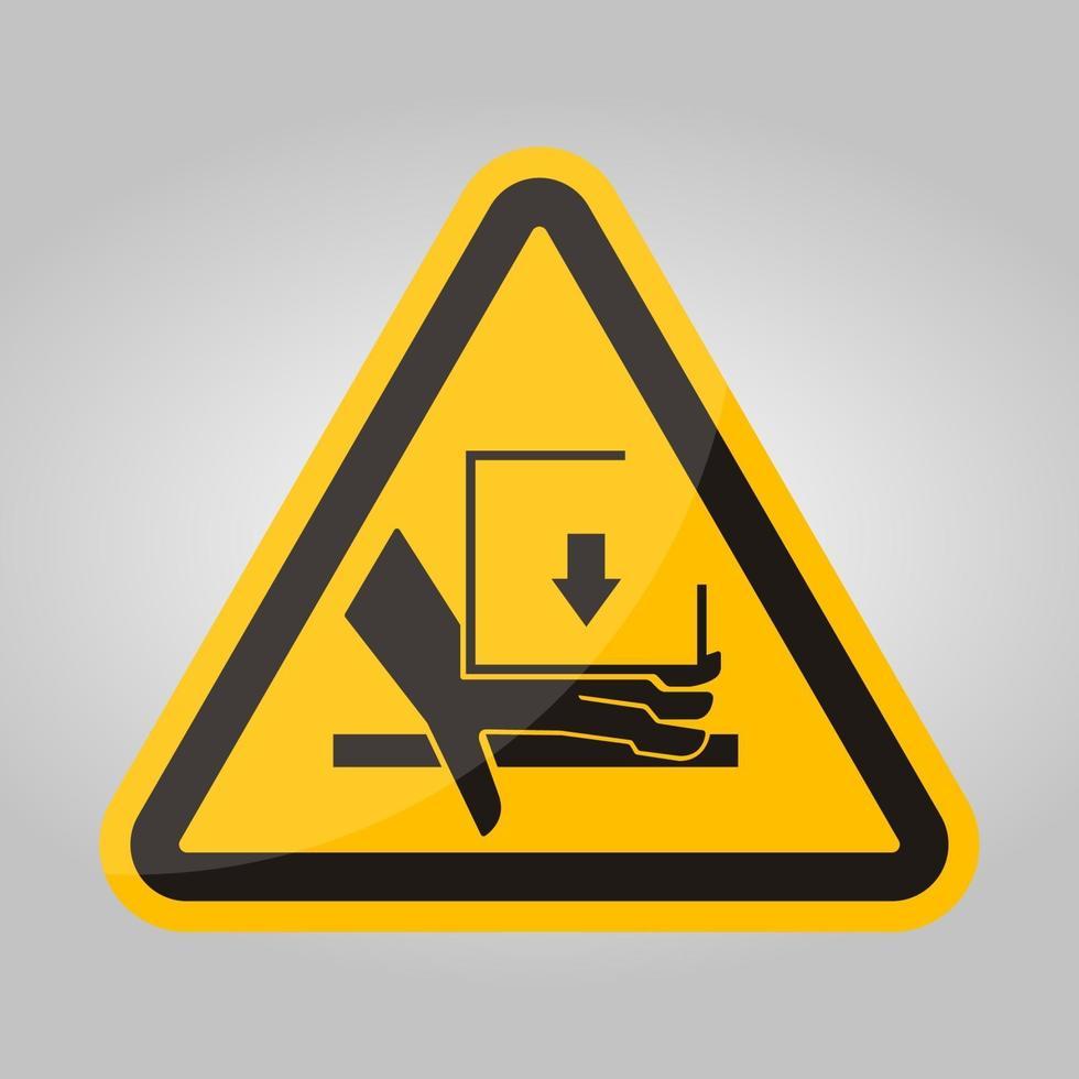 hand crush kracht van bovenaf symbool teken, vector illustratie, isoleren op witte achtergrond label .eps10