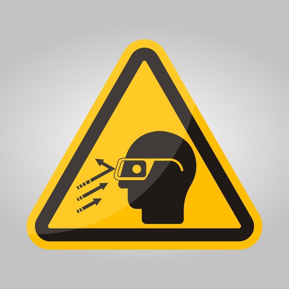 vliegend puin dragen veiligheidsbril symbool teken, vector illustratie, isoleren op witte achtergrond label .eps10