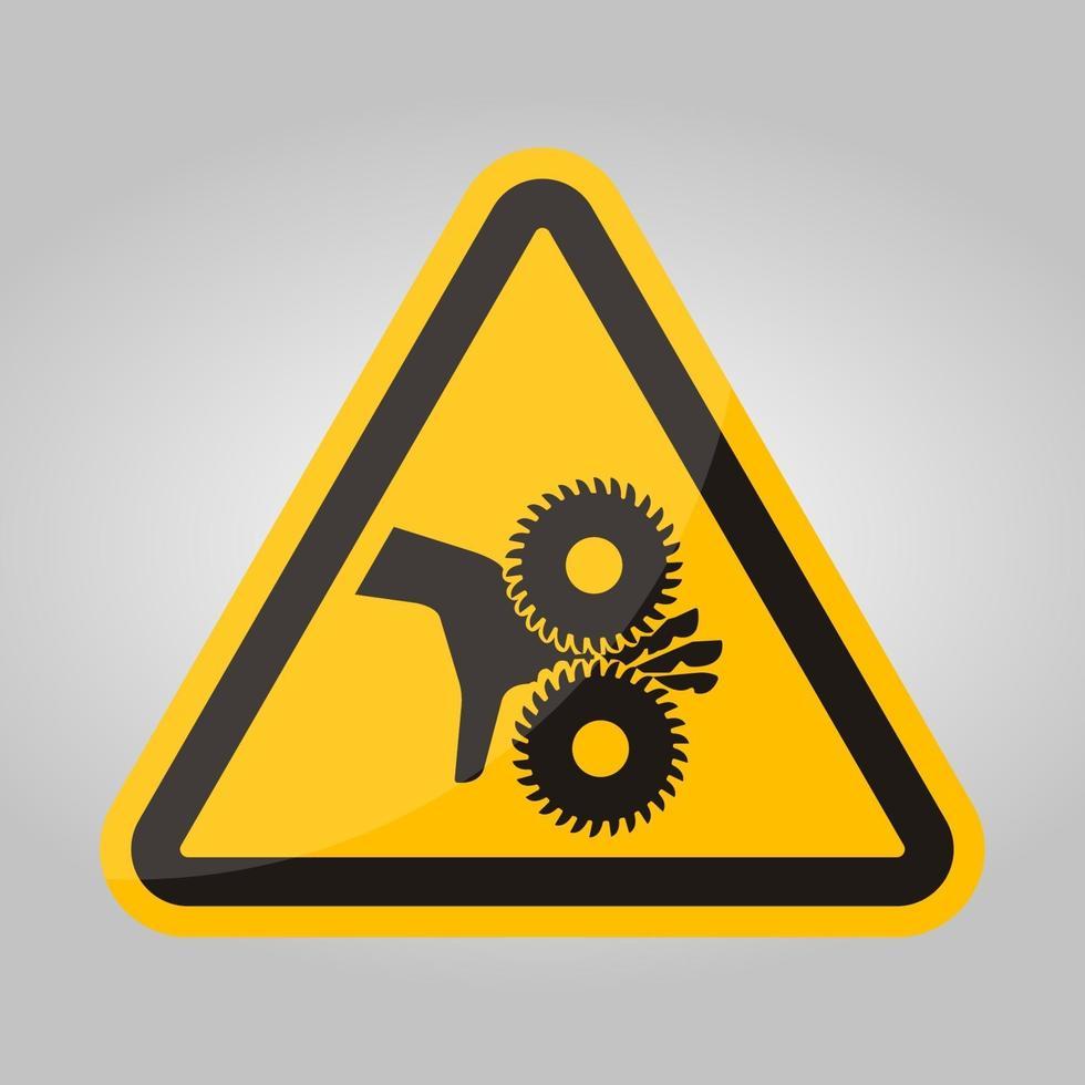 snijden van vingers roterende messen symbool teken, vector illustratie, isoleren op witte achtergrond label .eps10