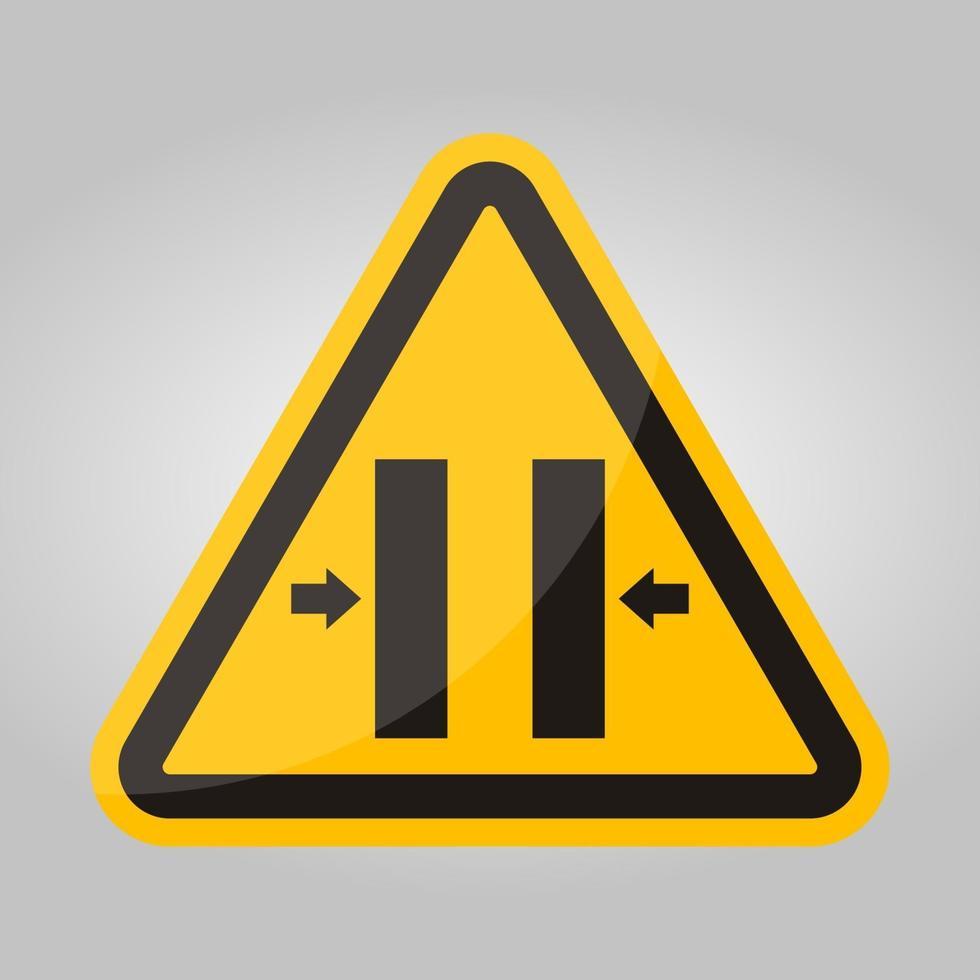 verpletteren gevaar sluiten schimmel symbool teken, vector illustratie, isoleren op witte achtergrond label .eps10