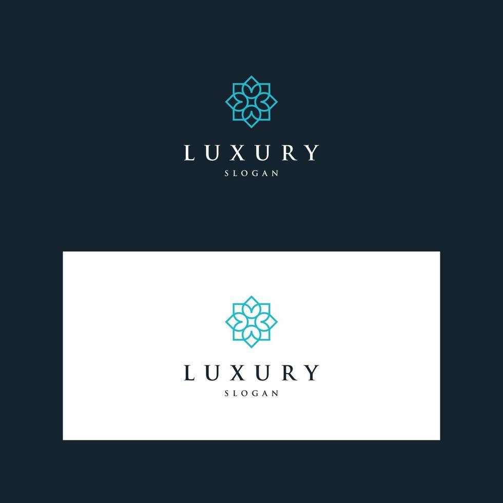 inspirerende logo's met luxe bloemenontwerp vector