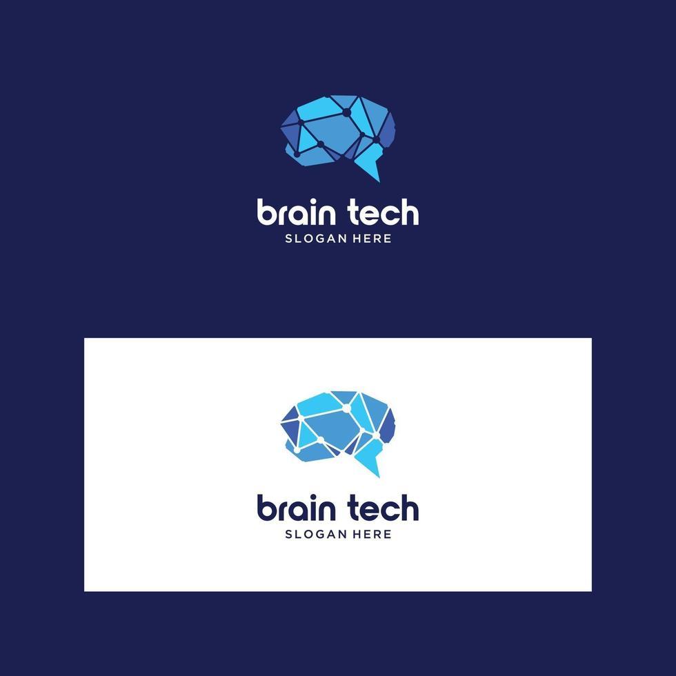 logo ontwerp hersenen vector