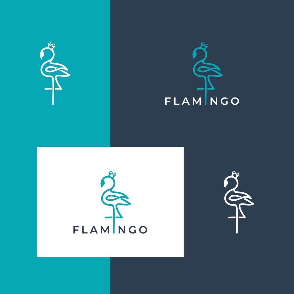 logo ontwerp flamingo vector